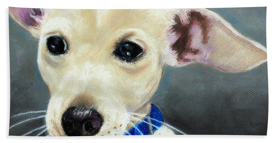 Mammal Bath Sheet featuring the painting Hank by Jeanne Fischer