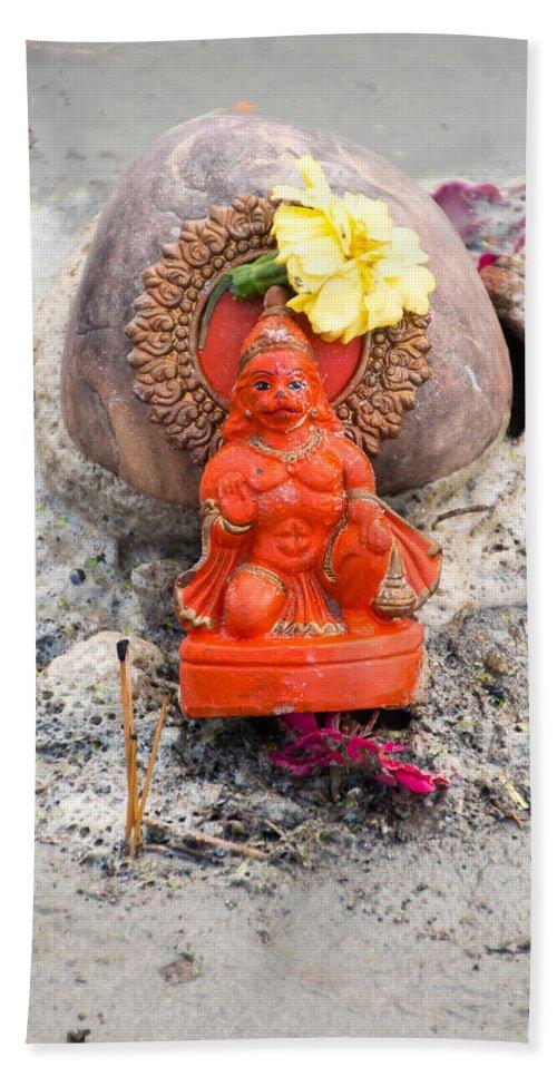 Allahabad Hand Towel featuring the photograph Hanuman by Gaurav Singh