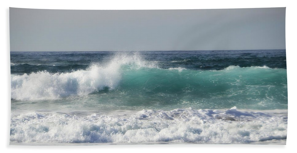 Coast Bath Sheet featuring the photograph Happily At Sea by Donna Blackhall