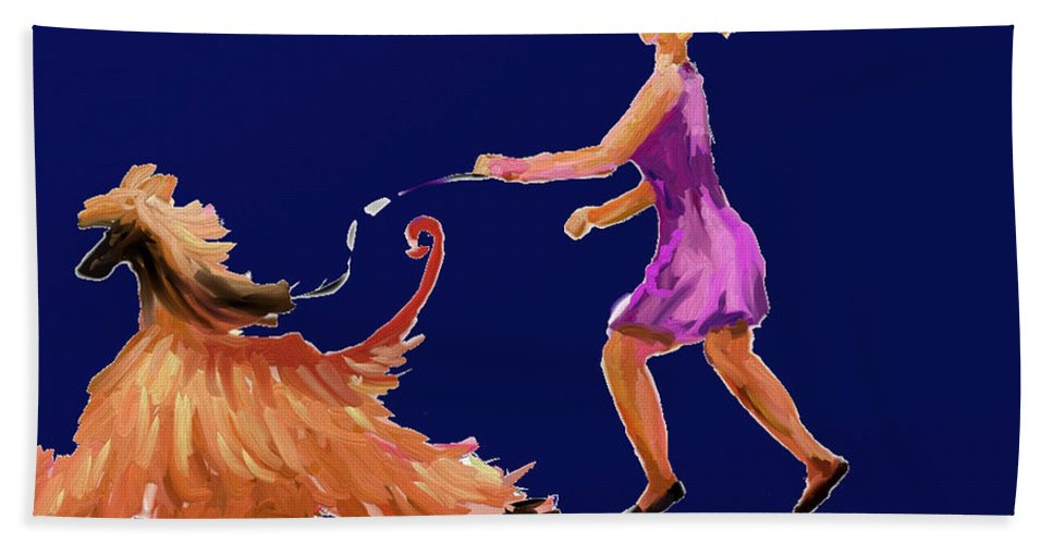 Ipad Finger Painting Hand Towel featuring the painting Happiness by Terry Chacon