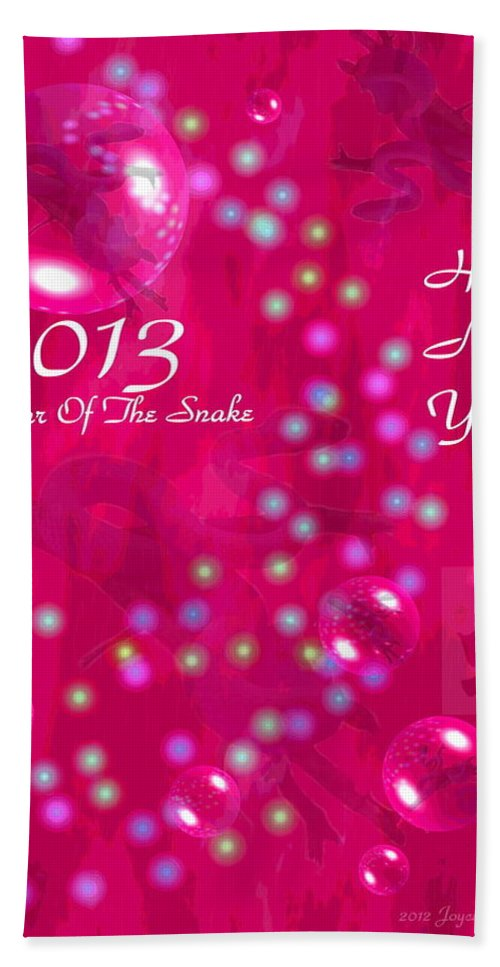 2013 Bath Sheet featuring the photograph Happy Chinese New Year 2013 4 by Joyce Dickens