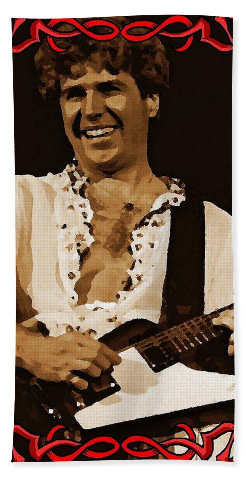 Sammy Hagar Bath Sheet featuring the photograph Smiling Sammy by Ben Upham