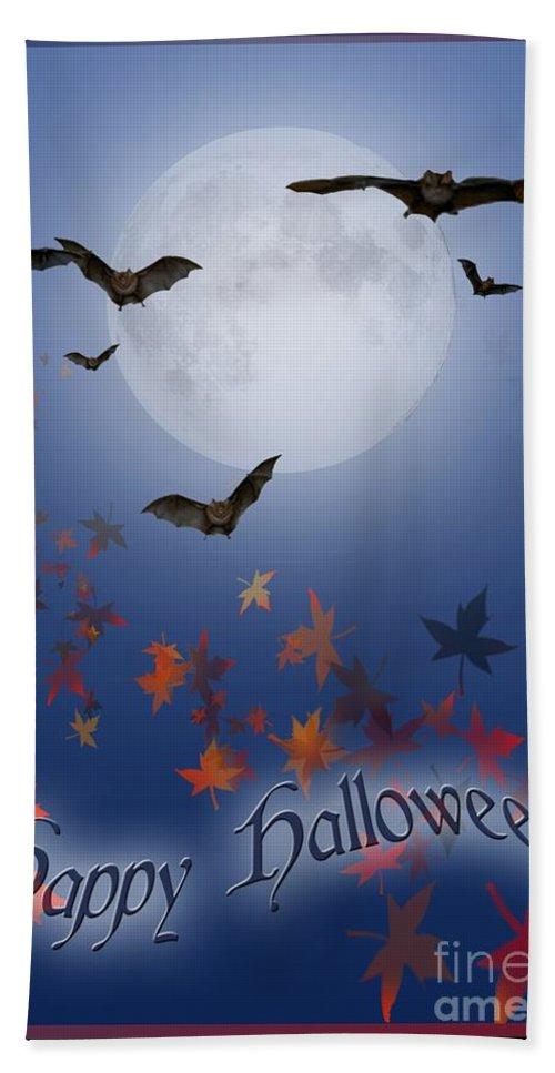 Halloween Bath Sheet featuring the digital art Happy Halloween by Melissa A Benson