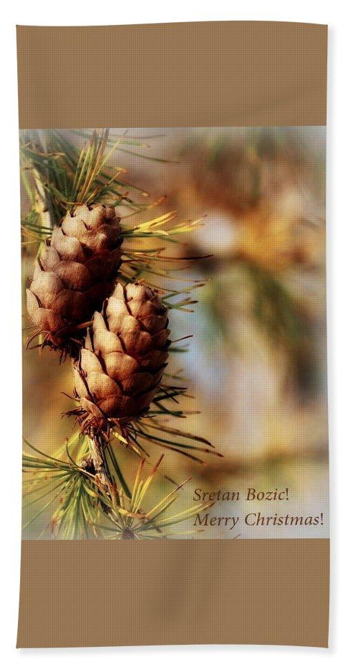 Cards Bath Sheet featuring the photograph Happy Holidays by Marija Djedovic
