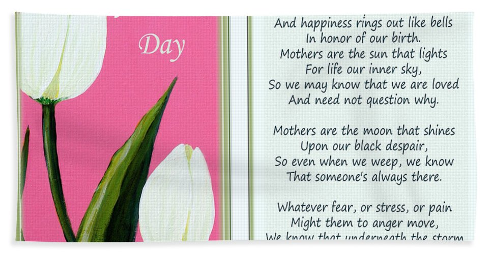 Tulips Bath Sheet featuring the painting Happy Mother's Day by Barbara Griffin
