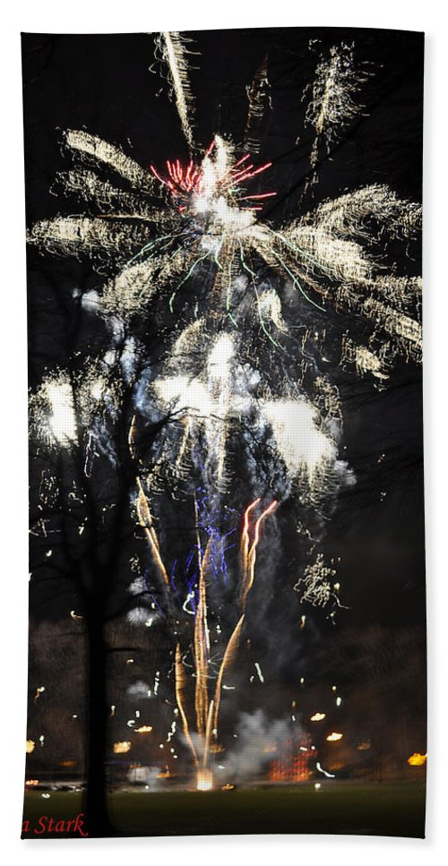 Fireworks Hand Towel featuring the photograph Happy New Year by Verana Stark