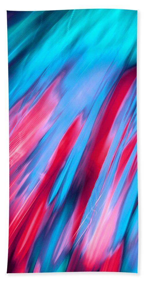 Abstract Bath Sheet featuring the photograph Happy Together Left Side by Dazzle Zazz