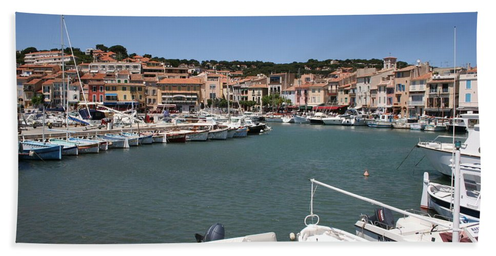 Harbor Bath Sheet featuring the photograph Harbor Cassis by Christiane Schulze Art And Photography