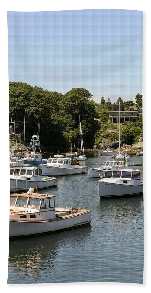 Algonquin Hand Towel featuring the photograph Harbor Views by Eric Swan
