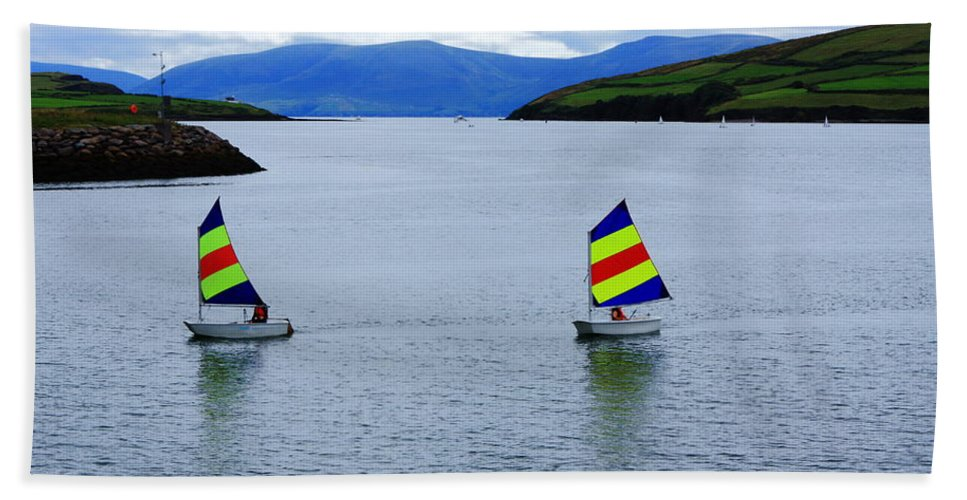 Ireland Hand Towel featuring the photograph Harbour Sailing by Aidan Moran