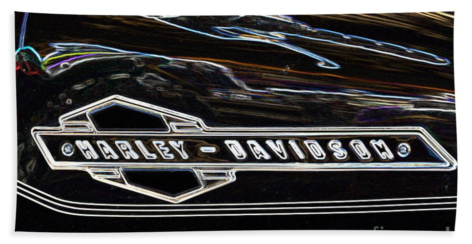 Harley Hand Towel featuring the photograph Harley Davidson 1 by Wendy Wilton