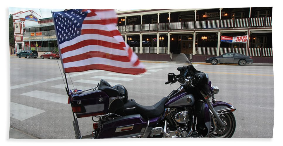 Harley Davidson Hand Towel featuring the photograph Harley Davidson by Amanda Stadther