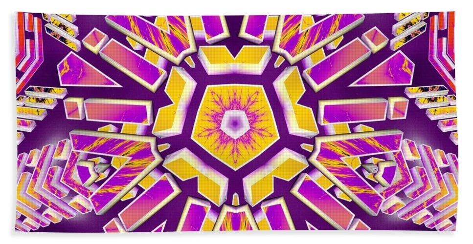 Sacredlife Mandalas Hand Towel featuring the digital art Harmonic Imagination by Derek Gedney