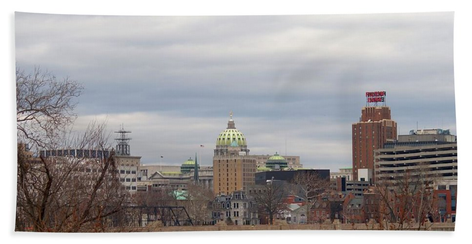Harrisburg Hand Towel featuring the photograph Harrisburg City by Rob Luzier
