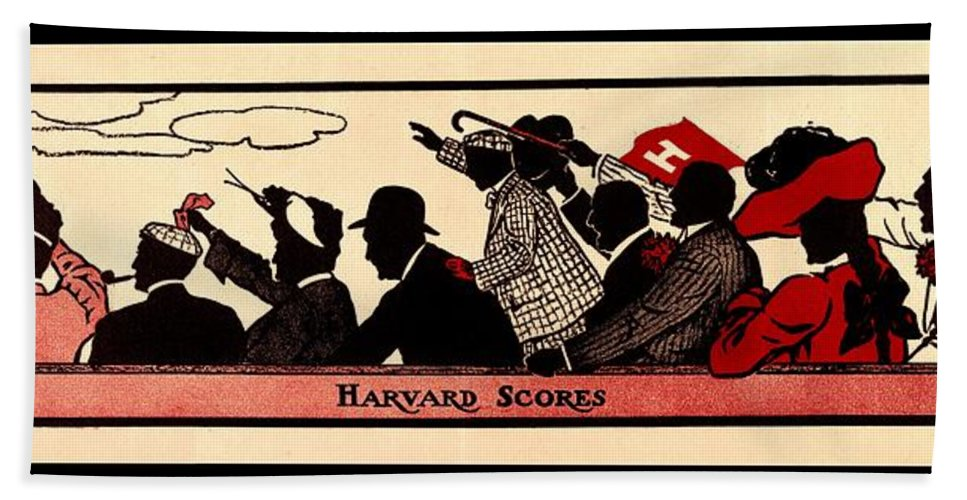 Harvard Hand Towel featuring the photograph Harvard Scores 1905 by Benjamin Yeager