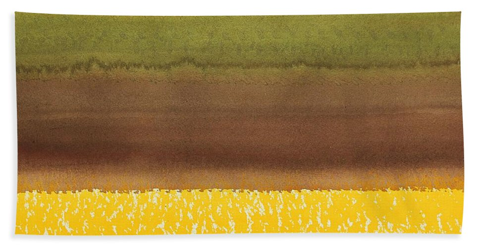 Harvest Hand Towel featuring the painting Harvest Original Painting by Sol Luckman