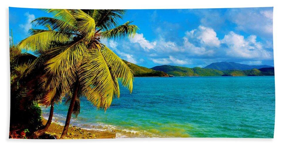 Virgin Islands Hand Towel featuring the photograph Haulover Bay Usvi by Tamara Michael