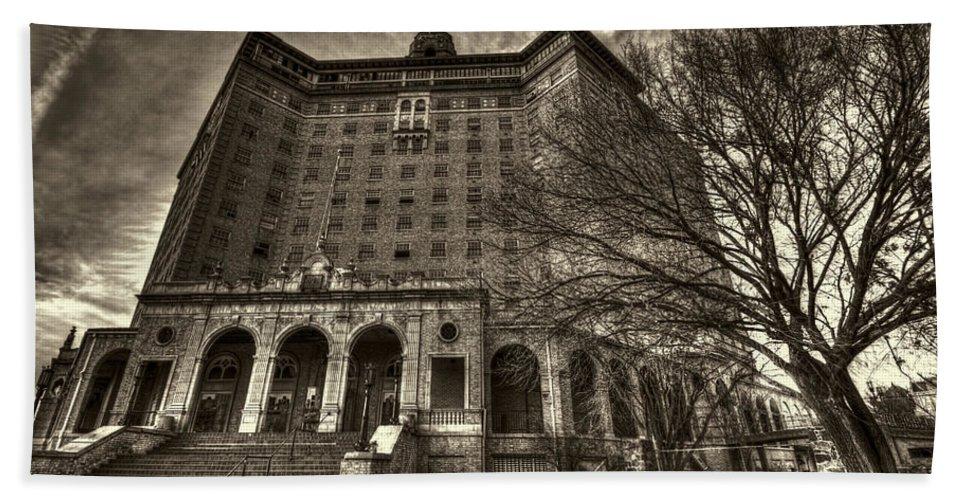 Baker Hotel Bath Sheet featuring the photograph Haunted Baker Hotel by Jonathan Davison