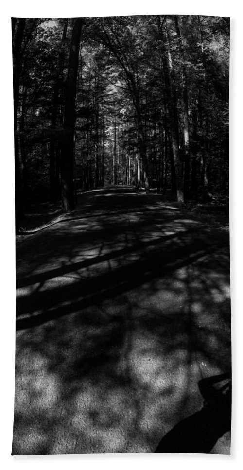 Shadows Bath Sheet featuring the photograph Haunted Forest by Kathleen Odenthal