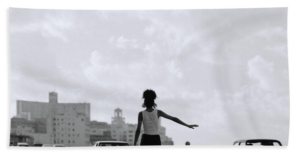 Woman Bath Sheet featuring the photograph Havana Woman by Shaun Higson