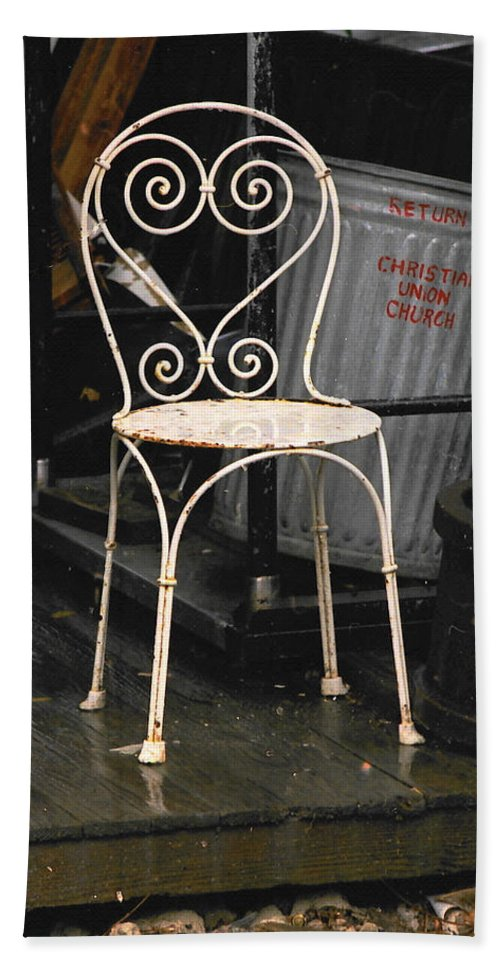 Chairs Bath Sheet featuring the photograph Have A Seat by Ira Shander