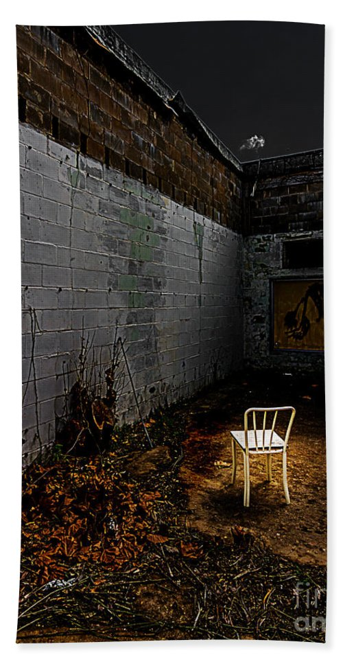 Abandoned Hand Towel featuring the photograph Have A Seat by Ken Frischkorn