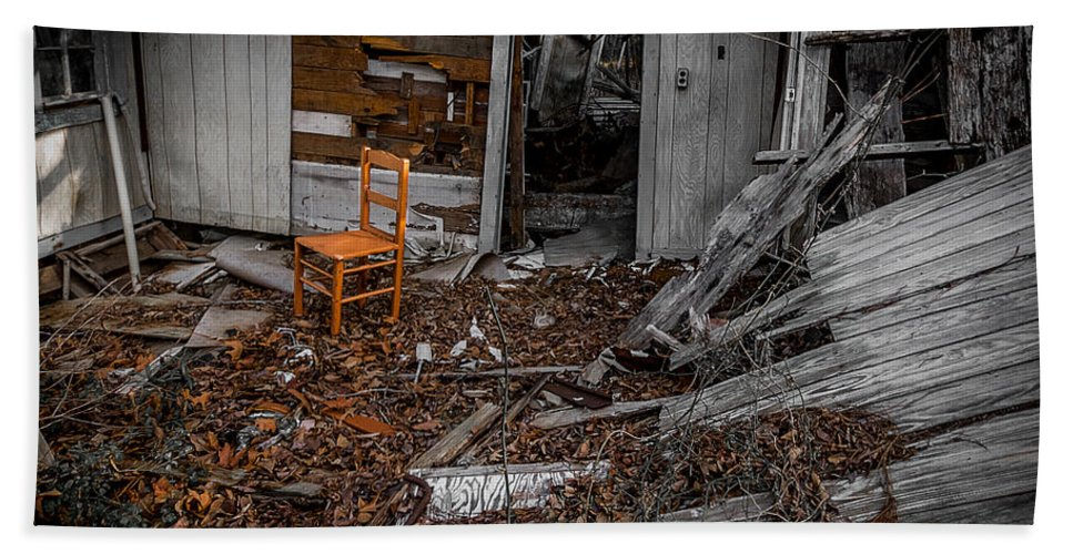 Abandoned Hand Towel featuring the photograph Have A Seat Two by Ken Frischkorn