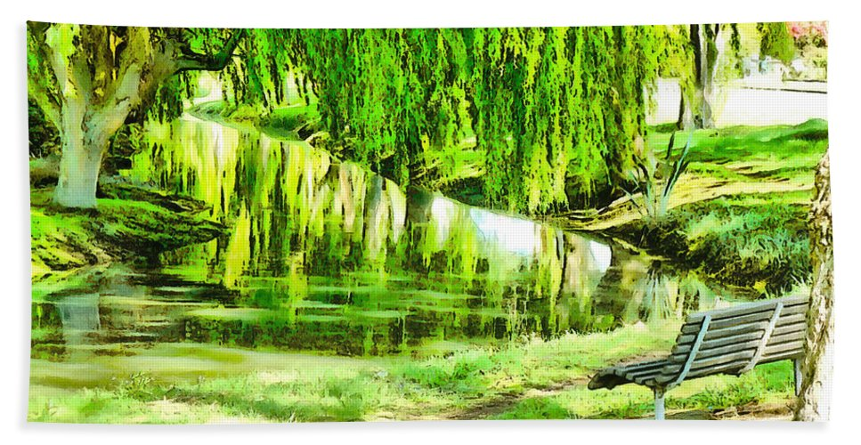 Avon Hand Towel featuring the photograph Have A Sit Down by Steve Taylor