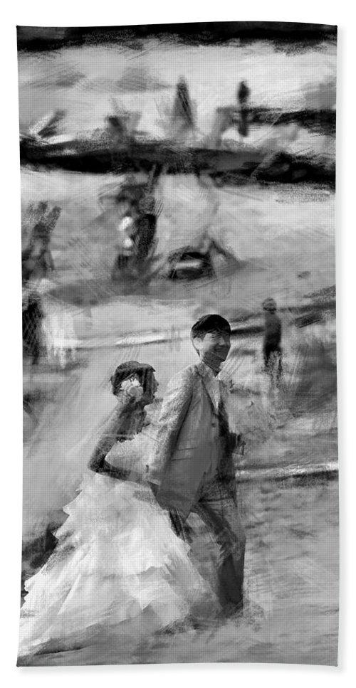 Hawaii Bath Sheet featuring the photograph Hawaii Beach Wedding by Douglas Barnard