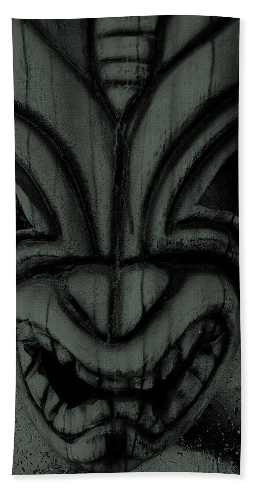 Polynesian Hand Towel featuring the photograph Hawaiian Charcoal Mask by Rob Hans