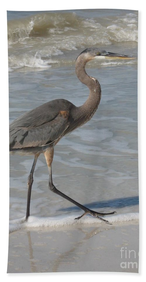 Heron Bath Sheet featuring the photograph Head For by Christiane Schulze Art And Photography