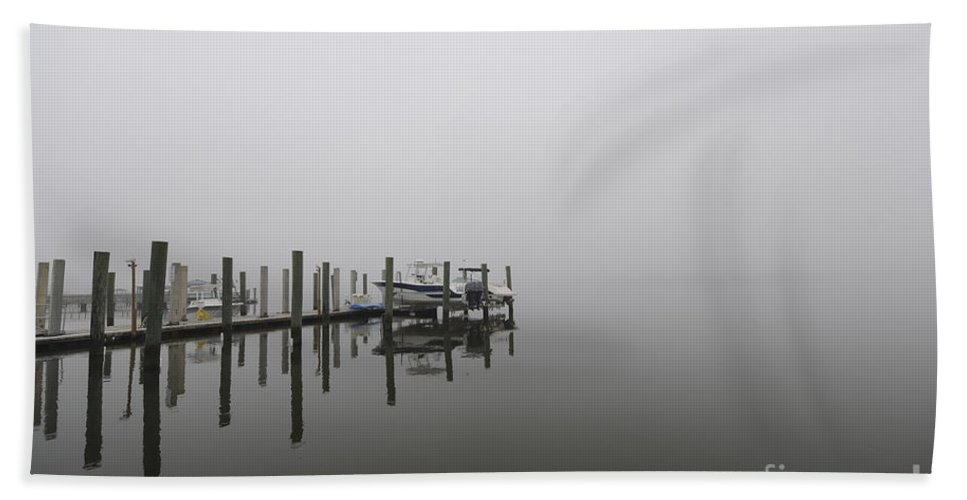 Fog Hand Towel featuring the photograph Heading Out Into The Fog by Dale Powell
