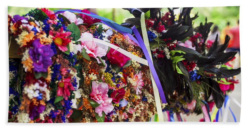 Flowers Hand Towel featuring the photograph Headpiece by Pablo Rosales