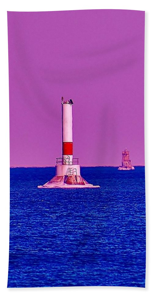 Hand Towel featuring the photograph Headwater Lights 2 by Daniel Thompson