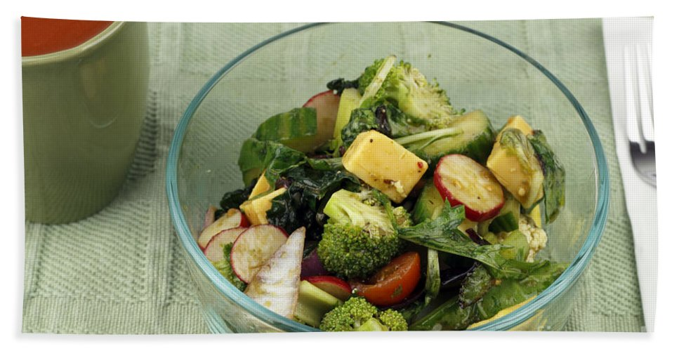 Healthy Bath Sheet featuring the photograph Healthy Mixed Salad by Lee Serenethos