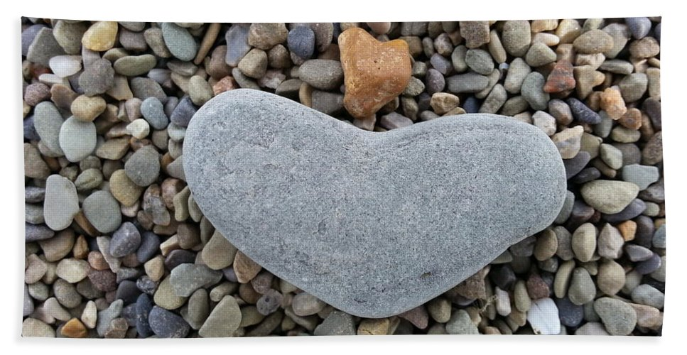 Stone Heart Bath Sheet featuring the photograph Heart Of Stone by Mary Burris