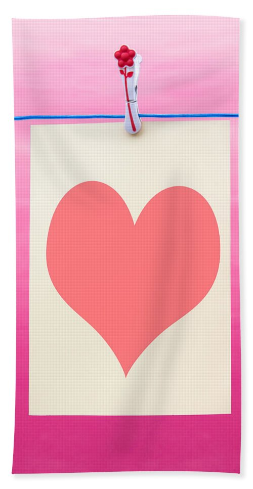 Blue Hand Towel featuring the photograph Heart by Semmick Photo