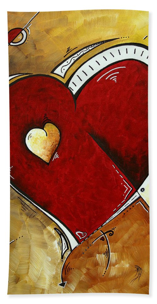 Art Hand Towel featuring the painting Heartbeat By Madart by Megan Duncanson
