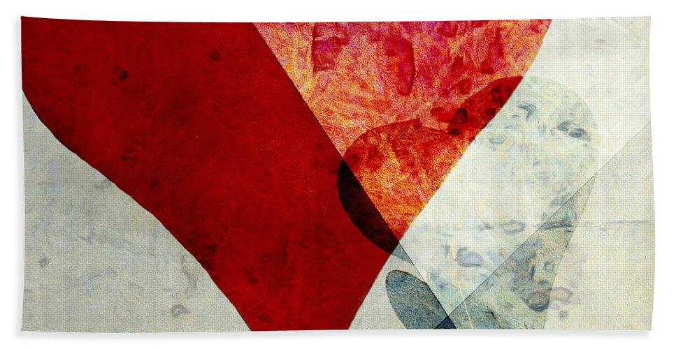 Abstract Hand Towel featuring the photograph Hearts 6 Square by Edward Fielding