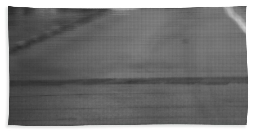 Heat Waves On The Road Bath Sheet featuring the photograph Heat Waves On The Road by Dan Sproul