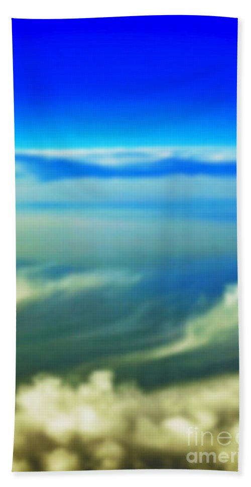 Heaven Bath Sheet featuring the photograph Heavenly Peace by Gwyn Newcombe
