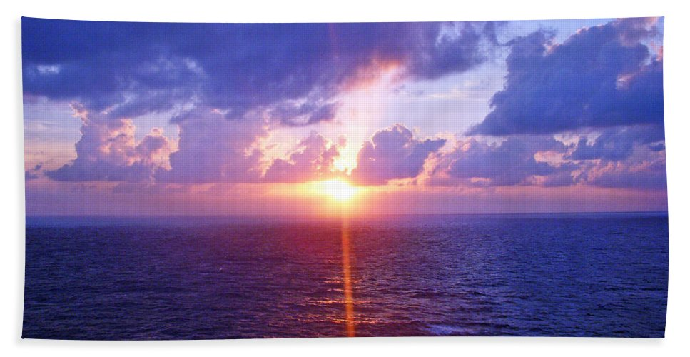 Sunset Bath Sheet featuring the photograph Heavenly Sunset by Aimee L Maher ALM GALLERY