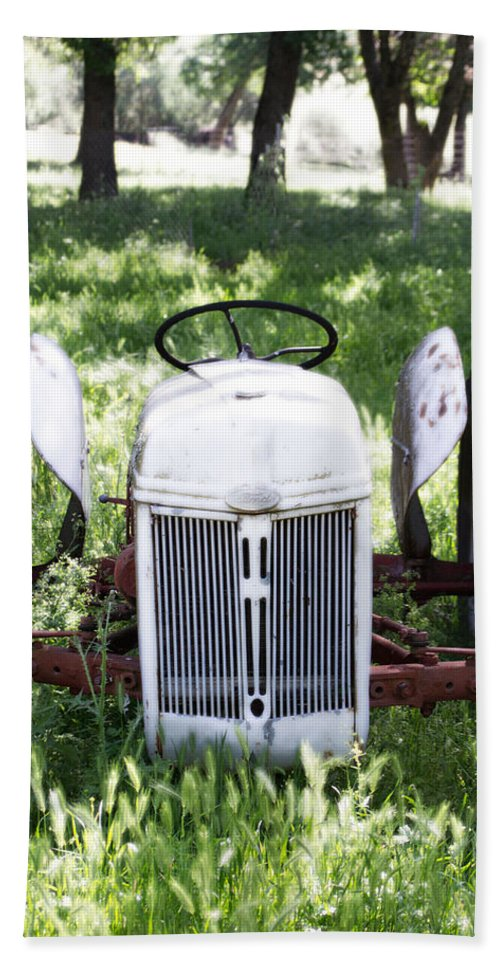 Axle Hand Towel featuring the photograph Heavenly Tractor by Holly Blunkall