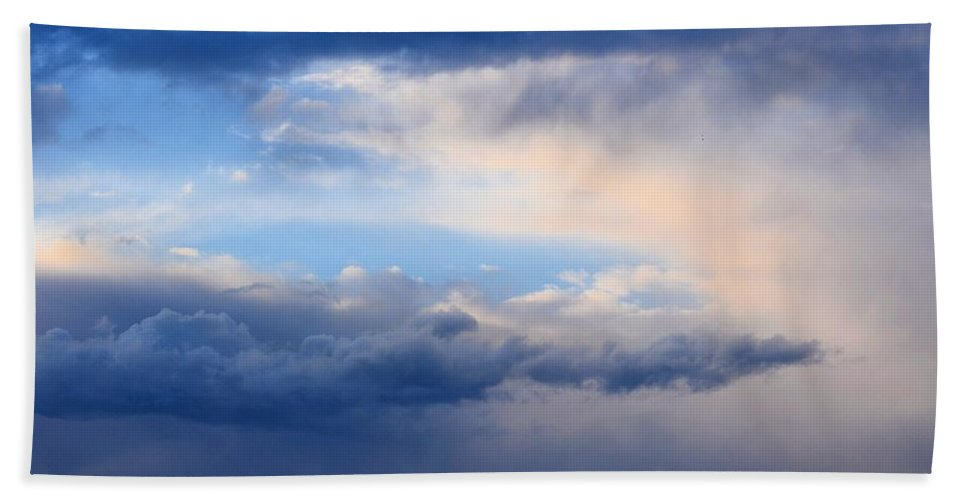 Heavenly Winter Blues Hand Towel featuring the photograph Heavenly Winter Blues by Maria Urso