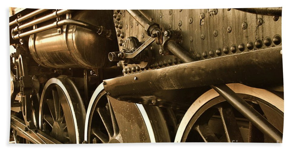 Train Bath Sheet featuring the photograph Heavy Steel by Rick Monyahan