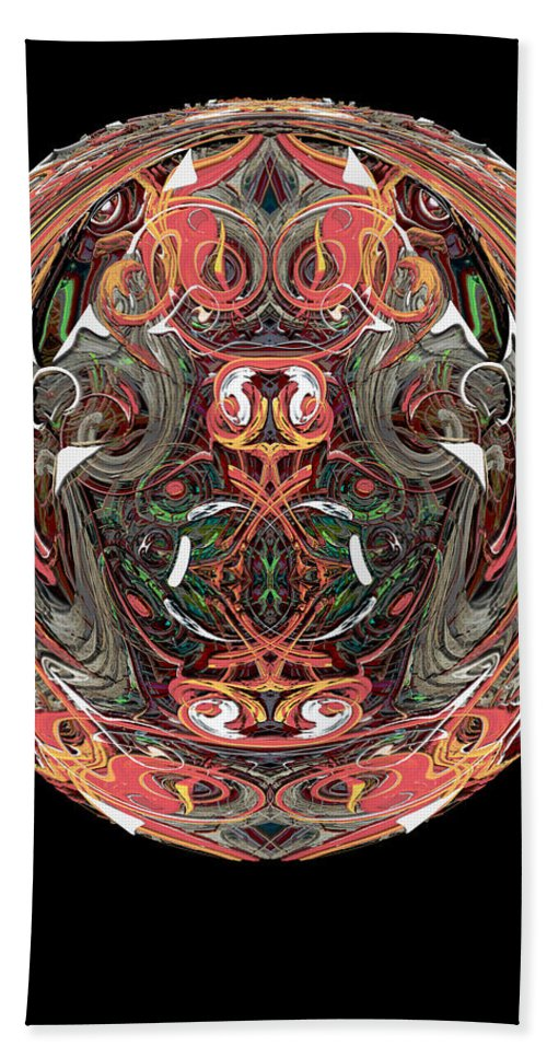 Abstract Hand Towel featuring the digital art Hedge Backwards 34 by Zac AlleyWalker Lowing