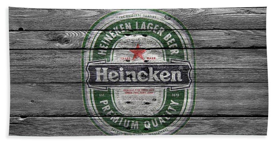Heineken Hand Towel featuring the photograph Heineken by Joe Hamilton