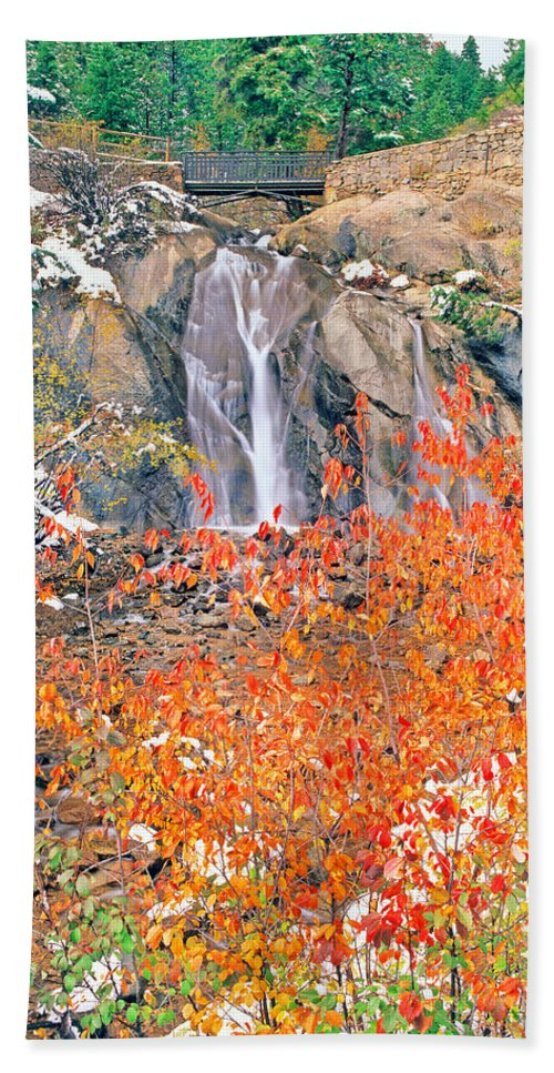 Helen Hunt Falls Hand Towel featuring the photograph Life Is An Arbitrary Eruption Of The Inexplicable And Ineffable. by Bijan Pirnia