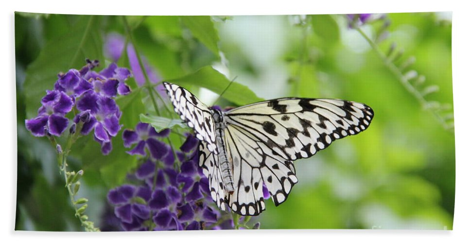 Nature Hand Towel featuring the photograph Hello Beauty by Jackie Mestrom