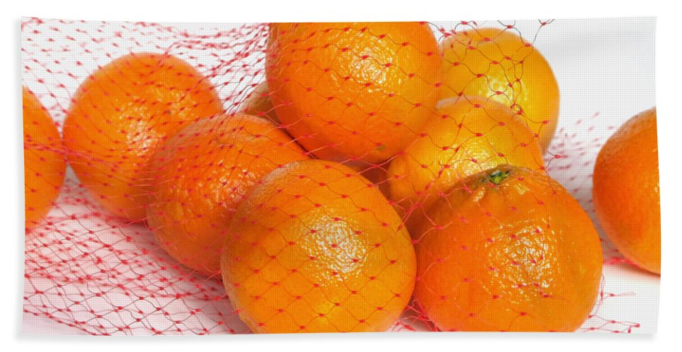 Oranges Bath Sheet featuring the photograph Help Yourself by Ann Horn